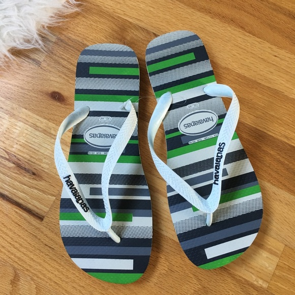 145cb023596bff New Havaianas Mens Striped Flip Flops. Size 11 12
